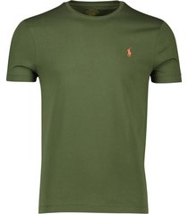 ralph lauren t-shirt custom slim fit olijfgroen