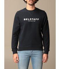 belstaff sweatshirt belstaff crewneck sweatshirt in cotton with logo print