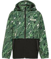 hmlchuva softshell jacket outerwear softshells softshell jackets groen hummel