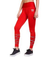legging long flashy rojo ngx