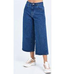 pantalón azul plac culotte
