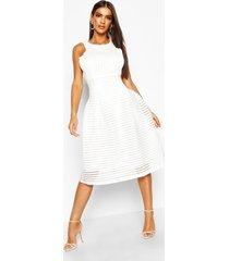 boutique panelled full skirt skater dress, ivory