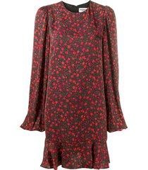 essentiel antwerp floral-print belted dress - black