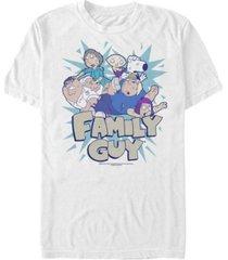 men's family guy group fight short sleeve t-shirt