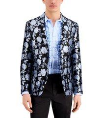 inc men's slim-fit metallic floral brocade blazer, created for macy's