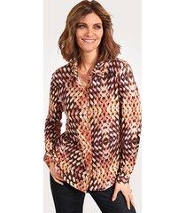 blouse mona oranje::bruin