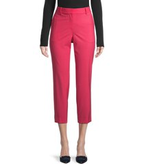 theory women's treeca wool-blend cropped pants - watermelon - size 00