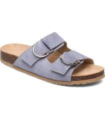 biabetricia leather sandal shoes summer shoes flat sandals blå bianco