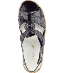 sandalett waldläufer svart::vit
