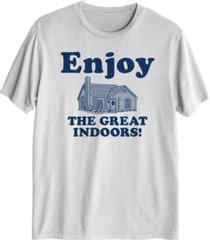 hybrid men's great indoors graphic t-shirt