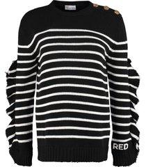 red valentino striped pullover
