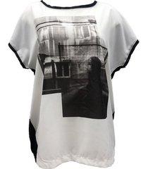 blouse vero moda weei sl wide top 10113882 noir