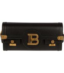 balmain b plaque chain strap shoulder bag