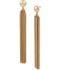 robert lee morris soho bead chain tassel earrings