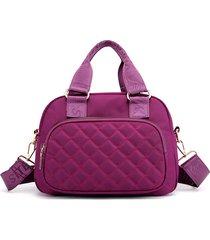 donne nylon crossbody multi-tasca borsa borsa per il tempo libero solid shoulder shoulder borsa