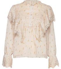 blouse blus långärmad vit sofie schnoor