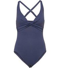 seafolly dd wrap front maillot badpak badkleding blauw seafolly