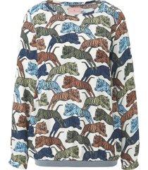 shirt met ronde hals en lange mouwen van lieblingsstück multicolour