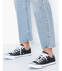 converse all star canvas ox low top svart