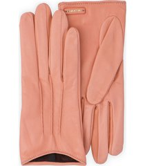 miu miu logo plaque gloves - pink