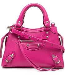 balenciaga mini neo classic city tote bag - pink