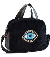 bolso negro back up ojo turco