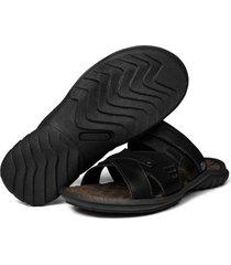 sandália masculina deck b duas formas uso preto