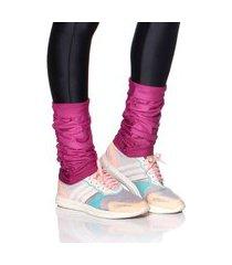 outros mulher elastica polaina fitness microfibra - magenta - u rosa