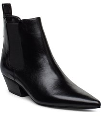 paola shoes boots ankle boots ankle boots with heel svart calvin klein