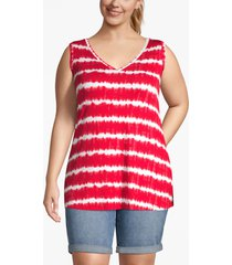 lane bryant women's printed swing tank 14/16 tie dye stripe