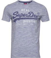 vl premium goods tee t-shirts short-sleeved blå superdry