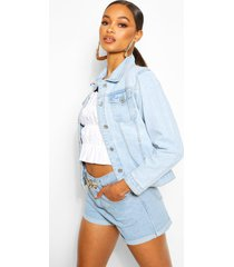 denim western jacket, light blue