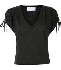 andrea bogosian salem pull strap sleeves t-shirt - black