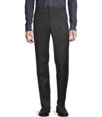 lauren ralph lauren men's flat-front twill trousers - charcoal - size 40 34