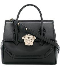 versace small empire palazzo tote bag - black