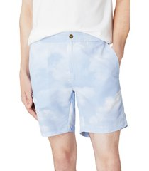 men's onia calder cloud print swim trunks