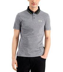 ax armani exchange men's slim-fit logo polo shirt