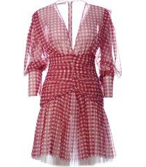philosophy di lorenzo serafini check print dress