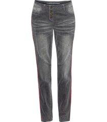 jeans boyfriend con bande laterali (grigio) - rainbow