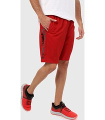 pantaloneta rojo-negro under armour graphic wordmark