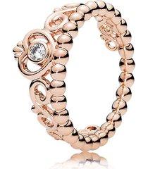 rose gold plated princess tiara ring for women qjcb1035