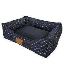cama para pet coroa tamanho m 66x53cm marinho fabrica pet