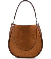proenza schouler large arch suede shoulder bag - brown