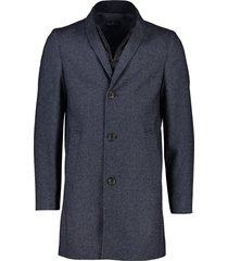 donkerblauwe jas halflang portofino