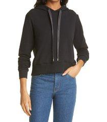 women's l'agence elle hoodie, size xx-small - black