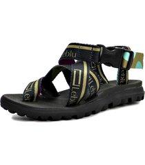 sandalia negra leblu