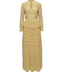 inspired maxi dress galajurk geel munthe