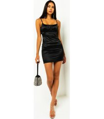 akira date night satin corset detail mini dress