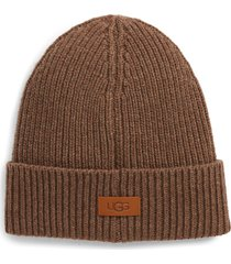 men's ugg ribbed beanie - brown