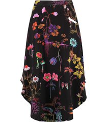 stella mccartney jacey printed silk skirt